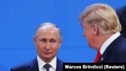 دونالد ترمپ رئیس جمهور امریکا و ولادیمیر پوتین رئیس جمهور روسیه