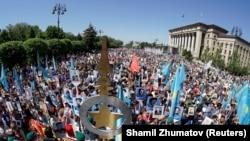Алматыда Жеңіс күнін атап өту. 9 мамыр 2018 жыл