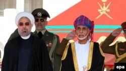 İran prezidenti Hassan Rohani və Oman sultanı Qaboos bin Said al Said