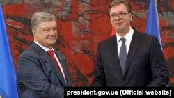 Президент Украины Петр Порошенко и президент Сербии Александр Вучич