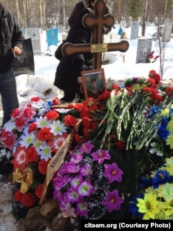 """Могила Михаила Нефедова, бойца """"ЧВК Вагнера"""", погибшего, по данным Conflict Intelligence Team, в Сирии в начале 2017 года"""