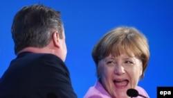 David Cameron və Angela Merkel