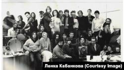 """Конец 80-х. С Настей Михайловской, """"Оберманекенами"""", Гариком Ассой и другими"""