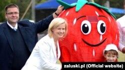 Ромуальд Возняк, війт територіальної громади Залускі (Польща) на фестивалі полуниці