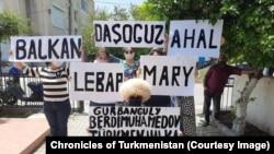 Участники акции протеста на Северном Кипре, май, 2020