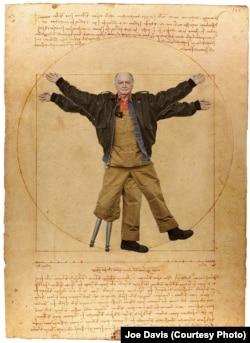 Джо Дэвис в образе Витрувианского человека