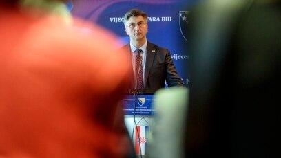 Plenkovićeva diplomatska ofanziva koju trenutno vodi u EU, kada je riječ o izboru Željka Komšića za člana bh. Predsjedništva, naišla je na negodovanje u Bosni i Hercegovini