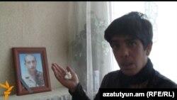 Мать погибшего в армии военнослужащего Вардана Севяна, Сусанна Севян