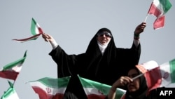 Демонстранты в Иране