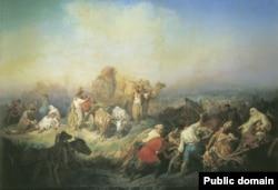Konstantin Filippov. Aqyar ve Aqmescit arasında Qırım cenki vaqtında cenk yolu