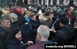 Пратэст на галоўнай плошчы Берасьця супраць новага заводу, 11 сакавіка
