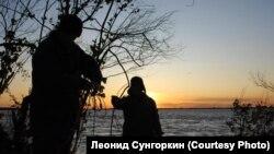Нанайские рыбаки на Амуре