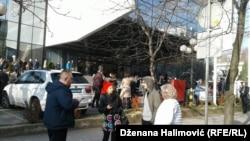 Nakon potresa mnogi građani Sarajeva izašli su iz objekata