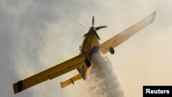 Авион гасне пожар во Црна Гора.