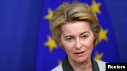 European Commission President Ursula von der Leyen says Iran nuclear deal is in growing danger. FILE PHOTO.