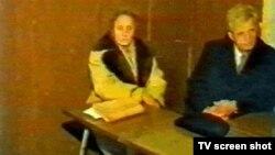 Нікалае Чаўшэску і яго жонка на судзе