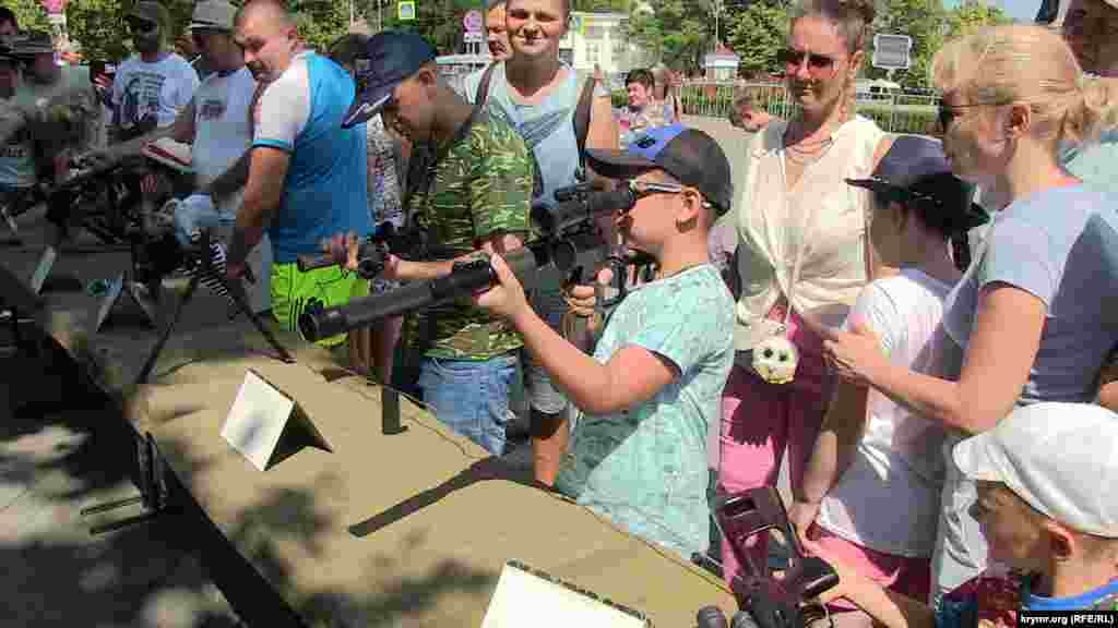 An exhibition of weapons in Sevastopol during Russian Navy Day on July 29, 2018