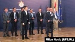 Лидерот на Српска листа, Горан Ракиќ на денешната прес-конференција во Белград