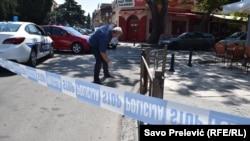 Mjesto pucnjave na Predraga Šukovića u Podgorici
