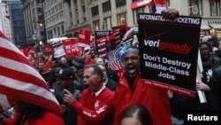 Sa protesta 'Okupiraj Wall Street', New York, oktobar 2011.