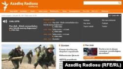 Azerbaijan -- screenshot of the newly-designed Azeri website