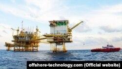 نمایی از تاسیسات نفتی «مرجان» که عربستان مدعی نزدیک شدن سه قایق ایرانی به آن است.