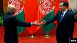 Չինաստանի վարչապետ Լի Կեցյանի և Աֆղանստանի նախագահ Աշրաֆ Ղանիի հանդիպումը Պեկինում, 29-ը հոկտեմբերի, 2015թ․