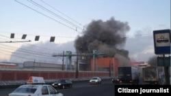 Пажар на адным з заводаў у Чалябінску пасьля мэтэарытнай атакі на горад і вобласьць