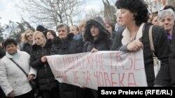 Protest majki u Podgorici