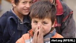 ارشیف، یو شمېر افغان ماشومان چې پر واټونو درانه او ستونزمن کارونه کوي.