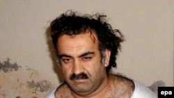 Khalid Sheikh Muhammad shortly after his capture in Rawalpindi, Pakistan in 2003