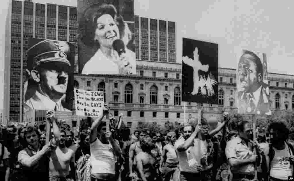 The Gay Freedom Day March in San Francisco on June 26, 1977.