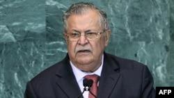 رئيس جمهورية العراق جلال طالباني