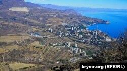 Вид на поселок Партенит и Партенитскую долину