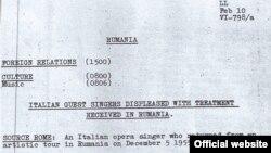 Imagine a documentului din Arhiva RFE/RL