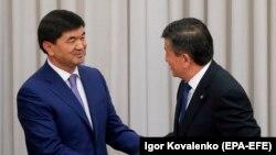 Мухаммедкалый Абылгазиев жана Сооронбай Жээнбеков. 25-апрель, 2018-жыл.
