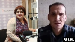 Jailed Journalists Khadija Ismayilova (l), Saparmamed Nepeskuliev