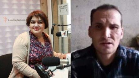 Jailed Journalists Khadija Ismayilova (l), Saparmamed Nepeskuliev