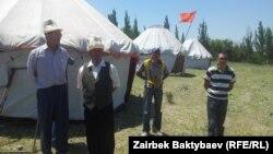 Акция протеста против незаконного приобретения земли Карганбеком Самаковым. 28 мая 2014 года.