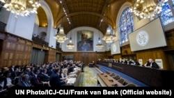 Паседжаньне Міжнароднага суду ААН у Гаазе (архіўнае фота).