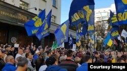 Протестующие требуют отставки руководства Генпрокуратуры. Автор фото: Сергей Мазур