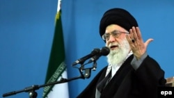 Высший руководитель Ирана аятолла Али Хаменеи в Тегеране, 17 февраля 2014 года.