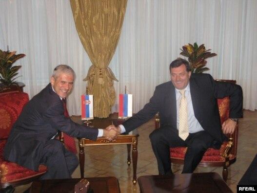 Boris Tadić i Milorad Dodik u Banjaluci, juni 2009.