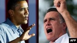 Namizədlər Mitt Romney (sağda) və Barack Obama