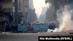 مواجهات بين موالين لجماعة الأخوان المسلمين وقوات الأمن المصرية، القاهرة 16/1/2014
