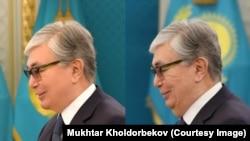 Офіційні фотографії чинного президента Казахстану Касим-Жомарта Токаєва обробляють в фотошопі