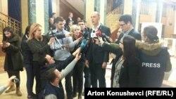 """Лидерот на опозициското движење """"Самоопределување"""" и пратеник во косовското Собрание, Висар Имери"""