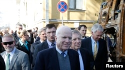 Джон Маккейн в Киеве 14 марта