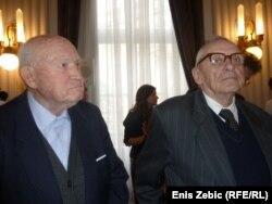 Rade Bulat i Josip Boljkovac na primanju pred Božić po Julijanskom kalendaru, Zagreb, 5. siječnja 2012
