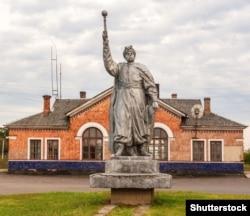 Пам'ятник Богдану Хмельницькому в місті Любомлі Волинської області, який був встановлений у 1954 році